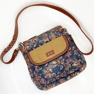 SAKROOTS Peace and Peacock Crossbody Purse